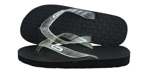 Locals Men's Arch Support Clear Strap Slippa