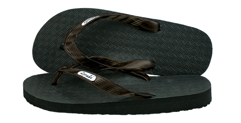 Locals Men's Arch Support Brown Strap Slippa