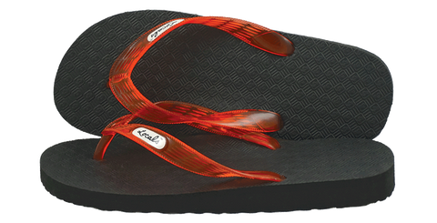 Locals Women's Arch Support Orange-Red Strap Slippa