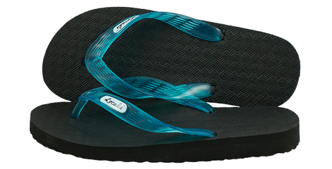 Locals Men's Arch Support Turquoise Strap Slippa
