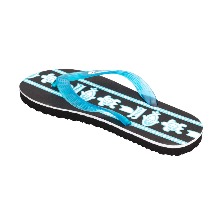 Sea Print Women's Turquoise Slippa