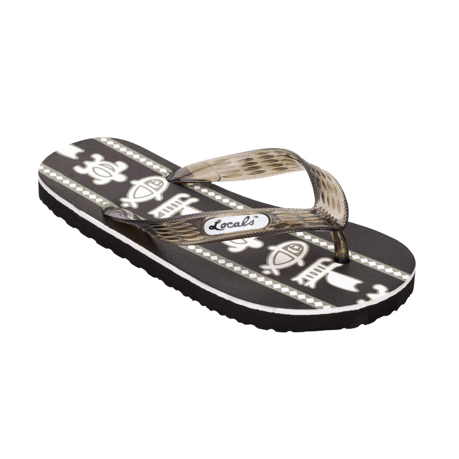 Sea Print Men's Black Slippa