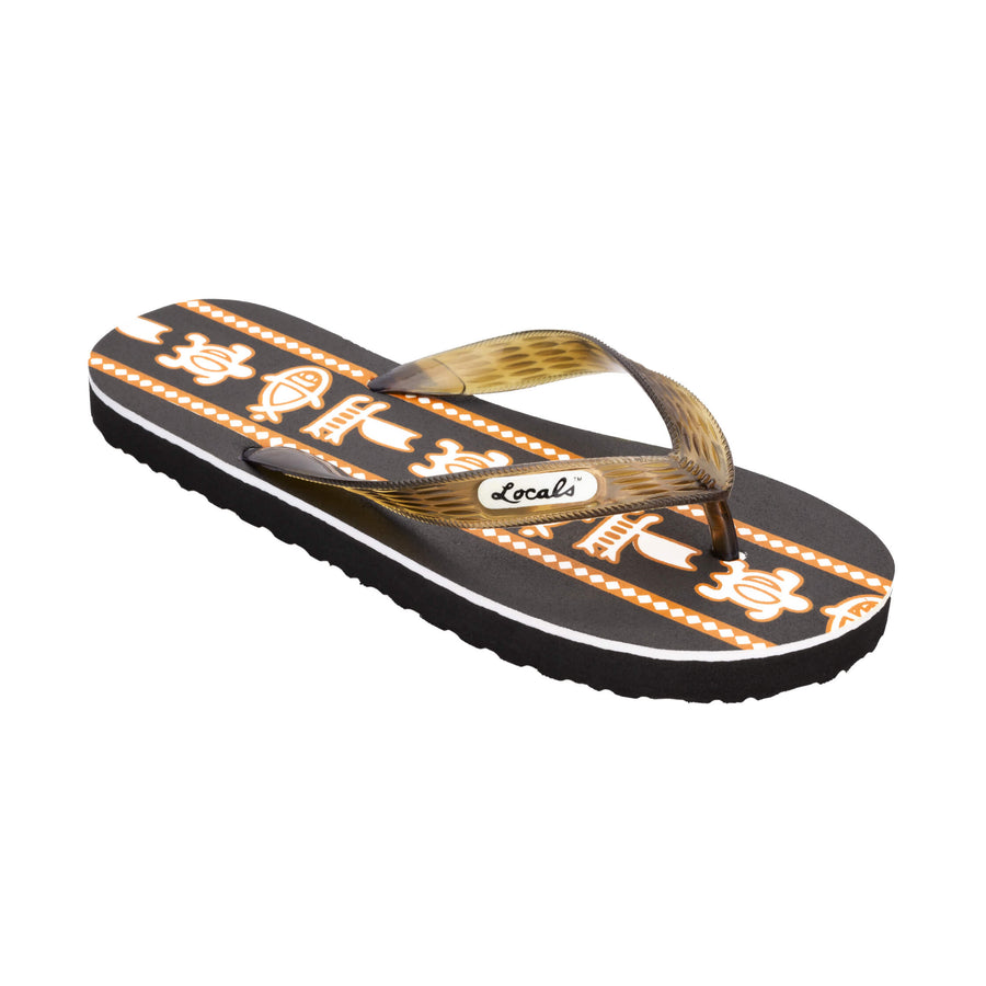 Sea Print Women's Brown Slippa
