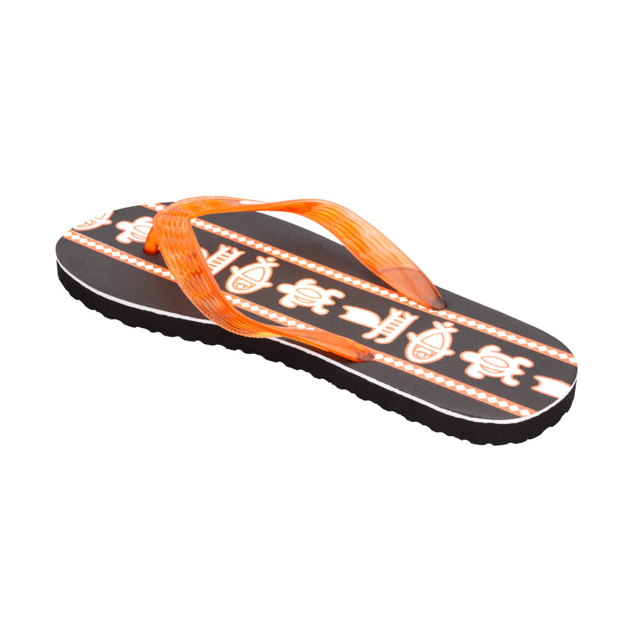 Sea Print Men's Orange Slippa