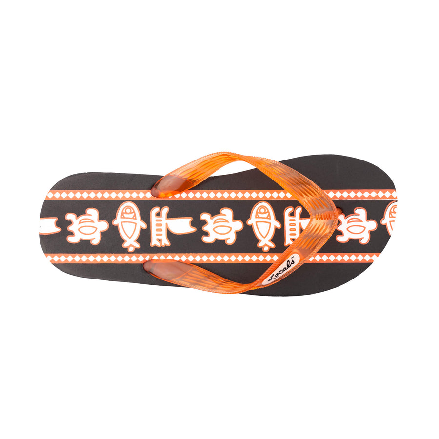 Sea Print Women's Orange Slippa