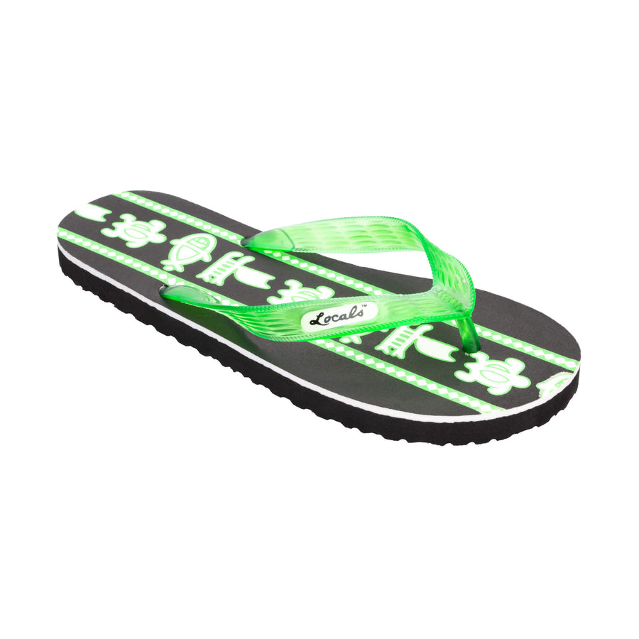 Sea Print Men's Green Slippa