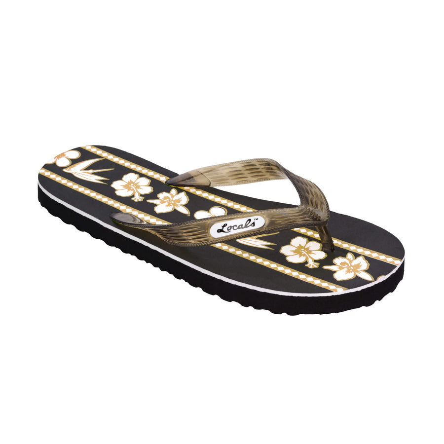 Mix Flower Print Women's Gold Slippa