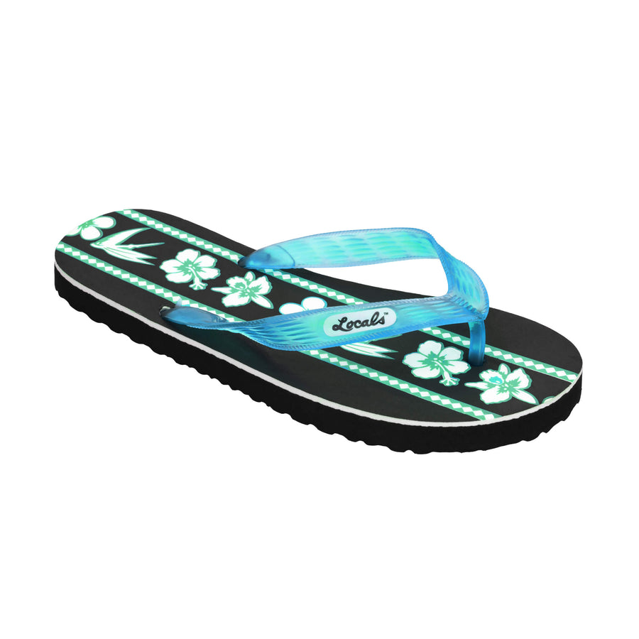 Mix Flower Print Women's Turquoise Slippa