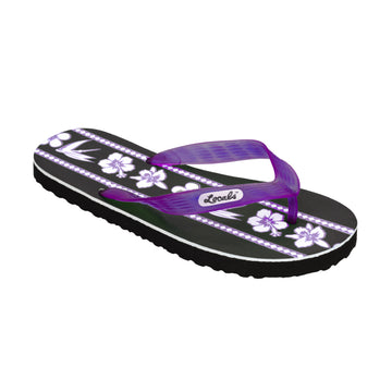 Mix Flower Print Women's Purple Slippa