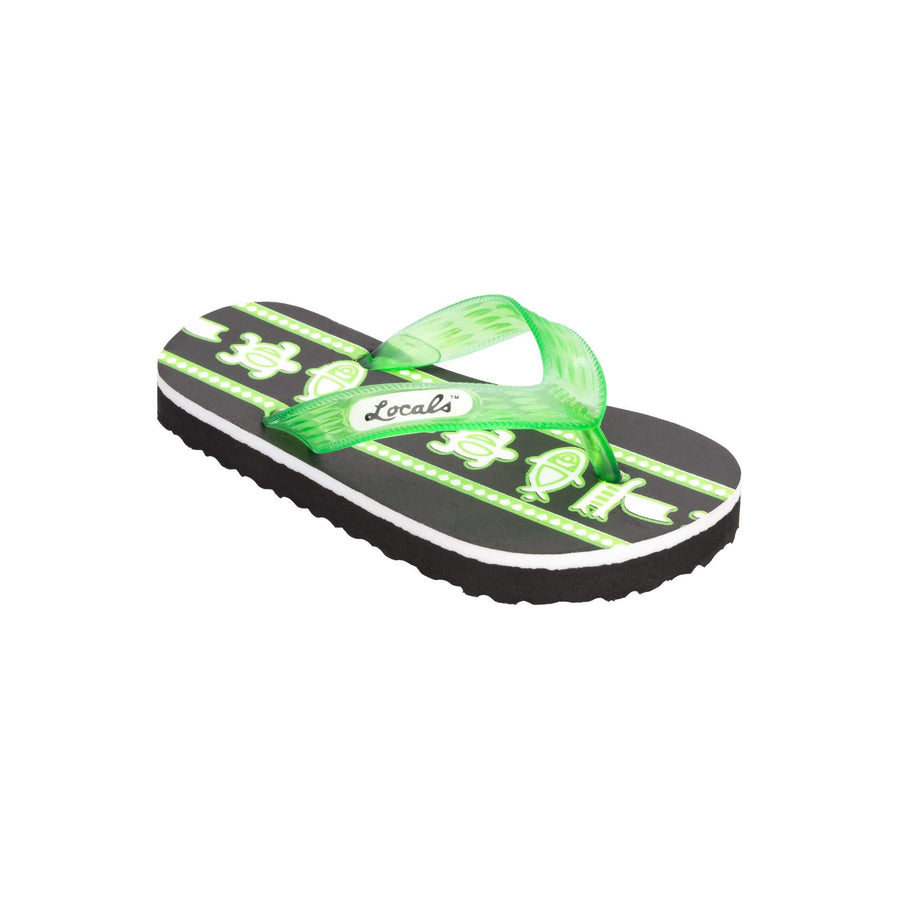 Kids Sea Print Green Slippa