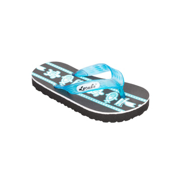 Kids Sea Print Turquoise Slippa