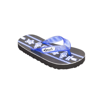 Kids Sea Print Blue Slippa