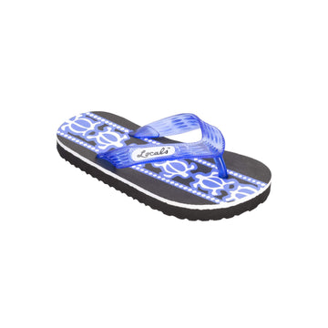 Kids Turtle Print Blue Slippa