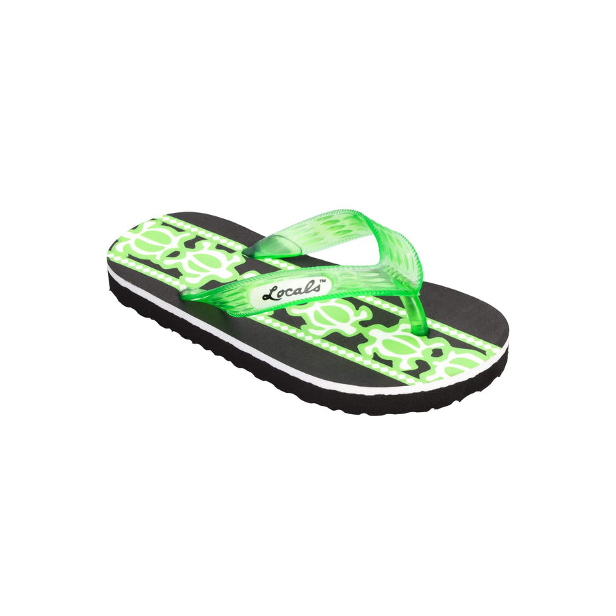 Kids Turtle Print Green Slippa