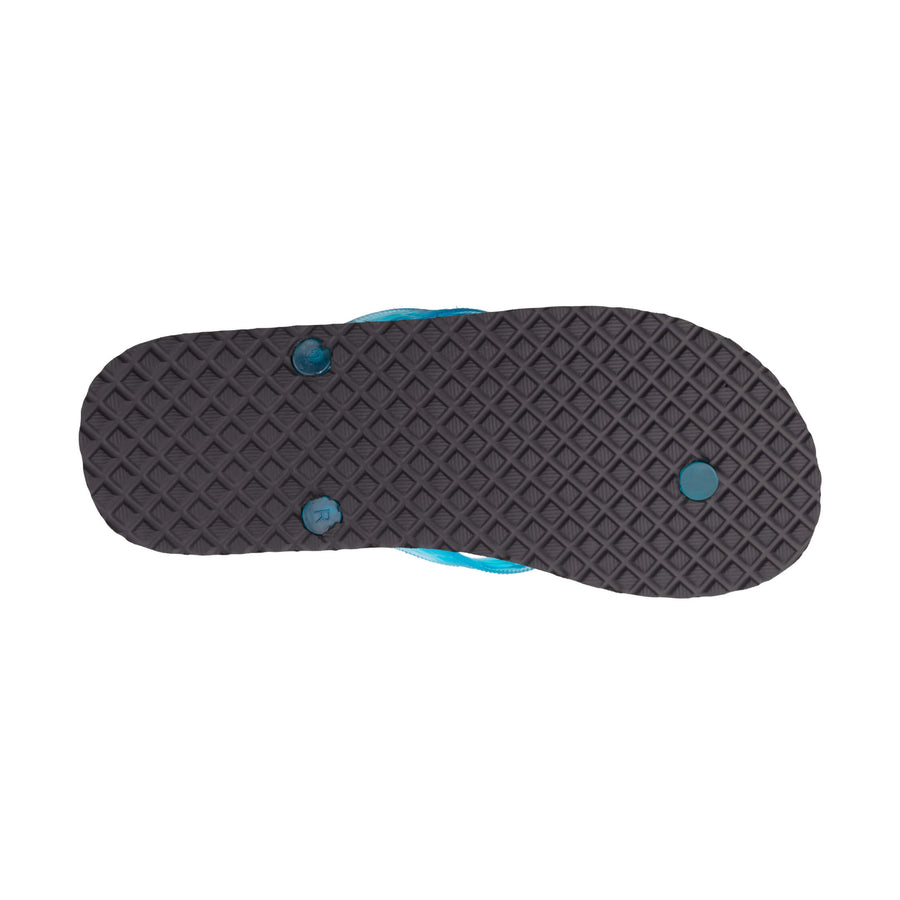 Turtle Print Men's Turquoise Slippa