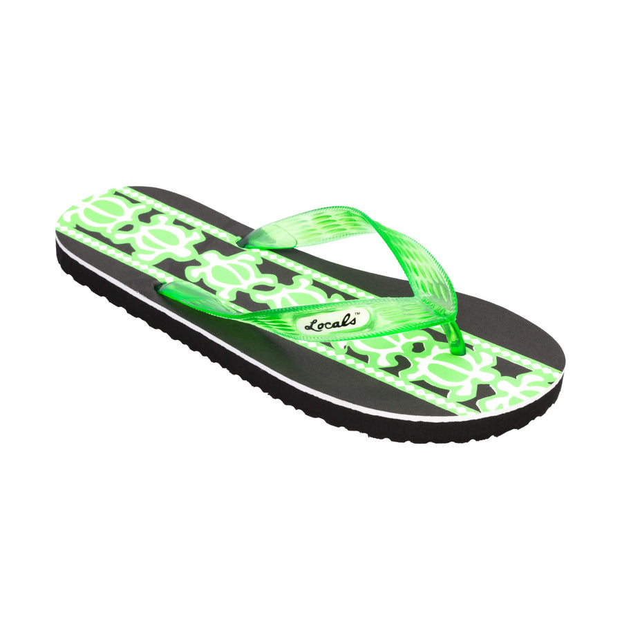 Turtle Print Women's Green Slippa