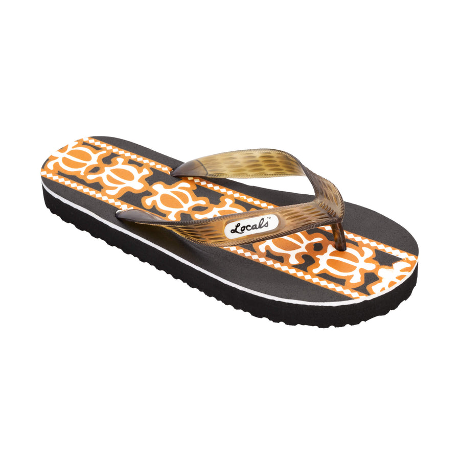 Turtle Print Men's Brown Slippa