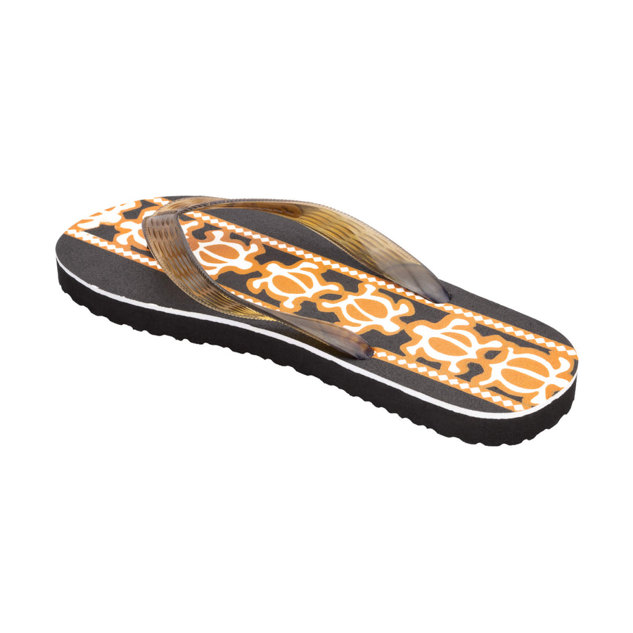 Turtle Print Women's Brown Slippa