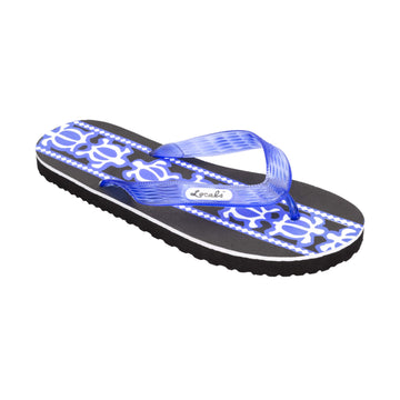 Turtle Print Women's Blue Slippa