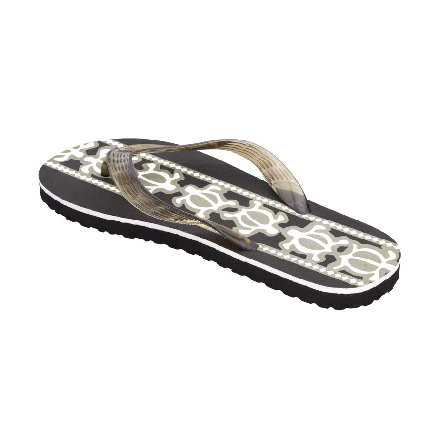 Turtle Print Men's Black Slippa
