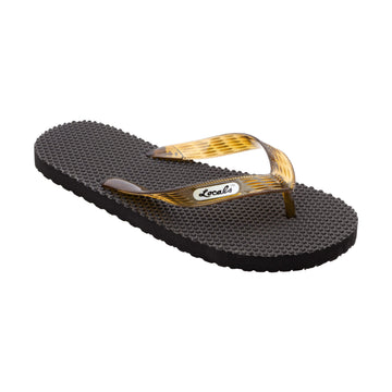 Massage Women's Translucent Brown Strap Slippa