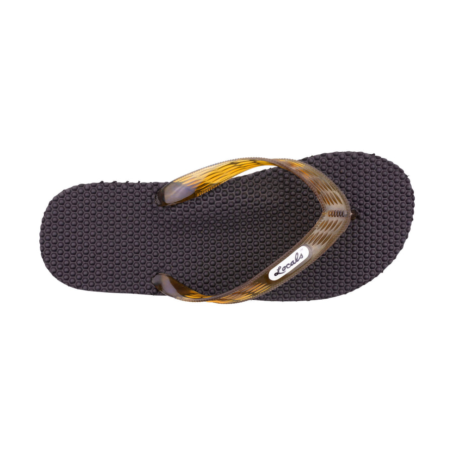 Massage Men's Translucent Brown Strap Slippa