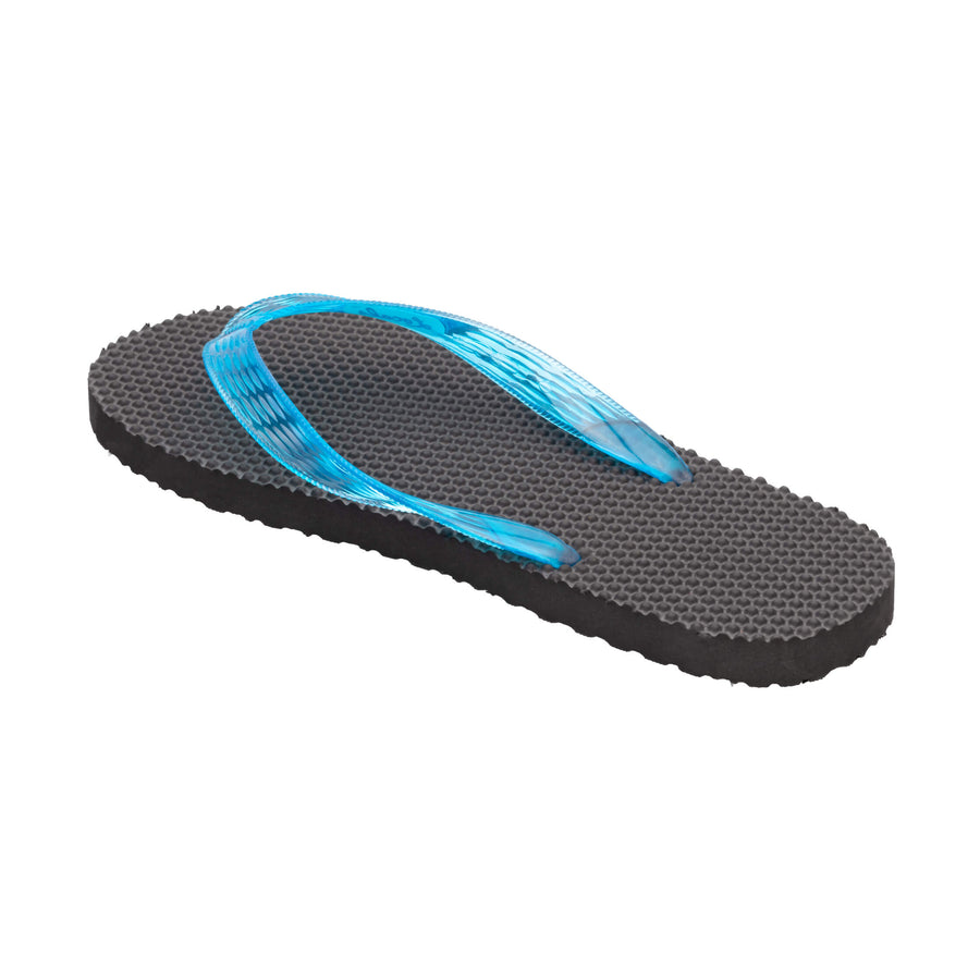 Massage Women's Translucent Turquoise Strap Slippa
