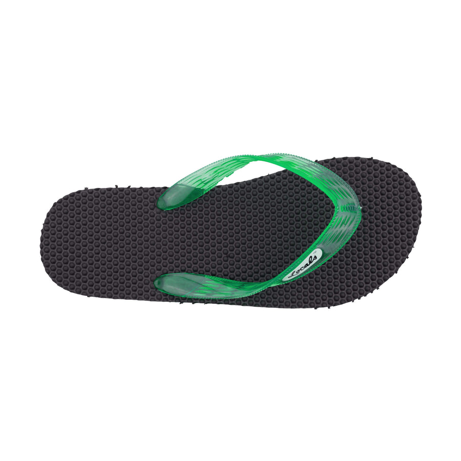 NEW! Massage Men's Translucent Green Strap Slippa