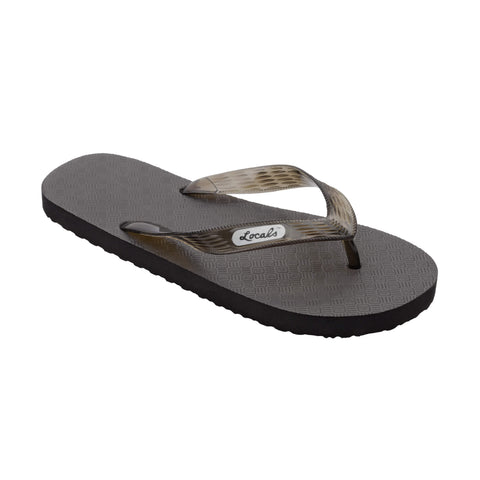 Original Women's Translucent Black Strap Slippa