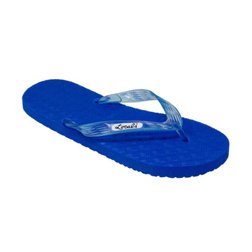 NEW! Blue Platform Men's Translucent Turquoise Strap Slippah