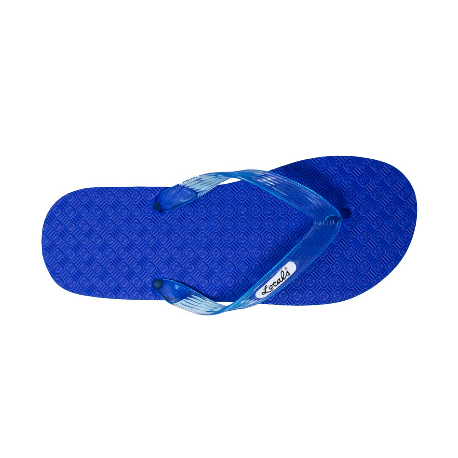 NEW! Blue Platform Women's Translucent Turquoise Strap Slippah