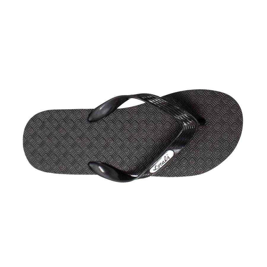 NEW! Men's Solid Black Strap Slippa