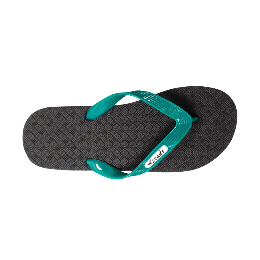 NEW! Women's Solid Green Strap Slippa