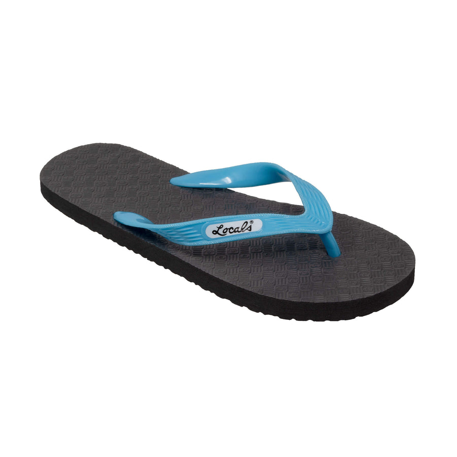 NEW! Women's Solid Aqua Strap Slippa