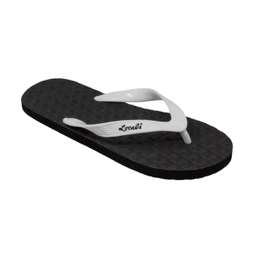 NEW! Men's Solid White Strap Slippa