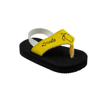Kids Elastic Strap Yellow Slippas