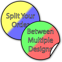 Split Your Order Between Two Designs