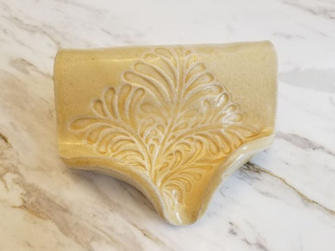 Waterfall Soap Dish, Ceramic, Bone