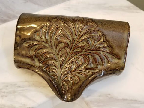 Waterfall Soap Dish, Ceramic, Waterfall Brown
