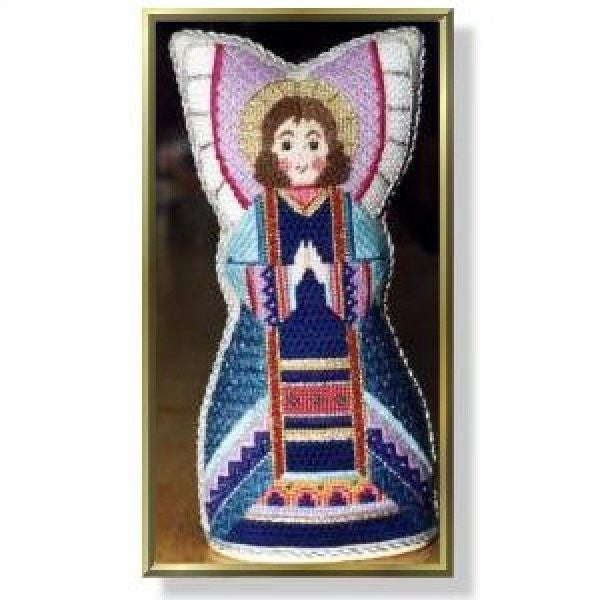 Standing Angel - Praying Wide Wings Stitch Guide-CD882ASG