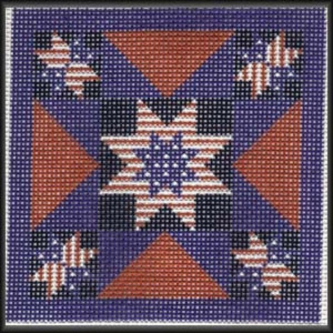 American Flag Quilt - Blue-CRS143