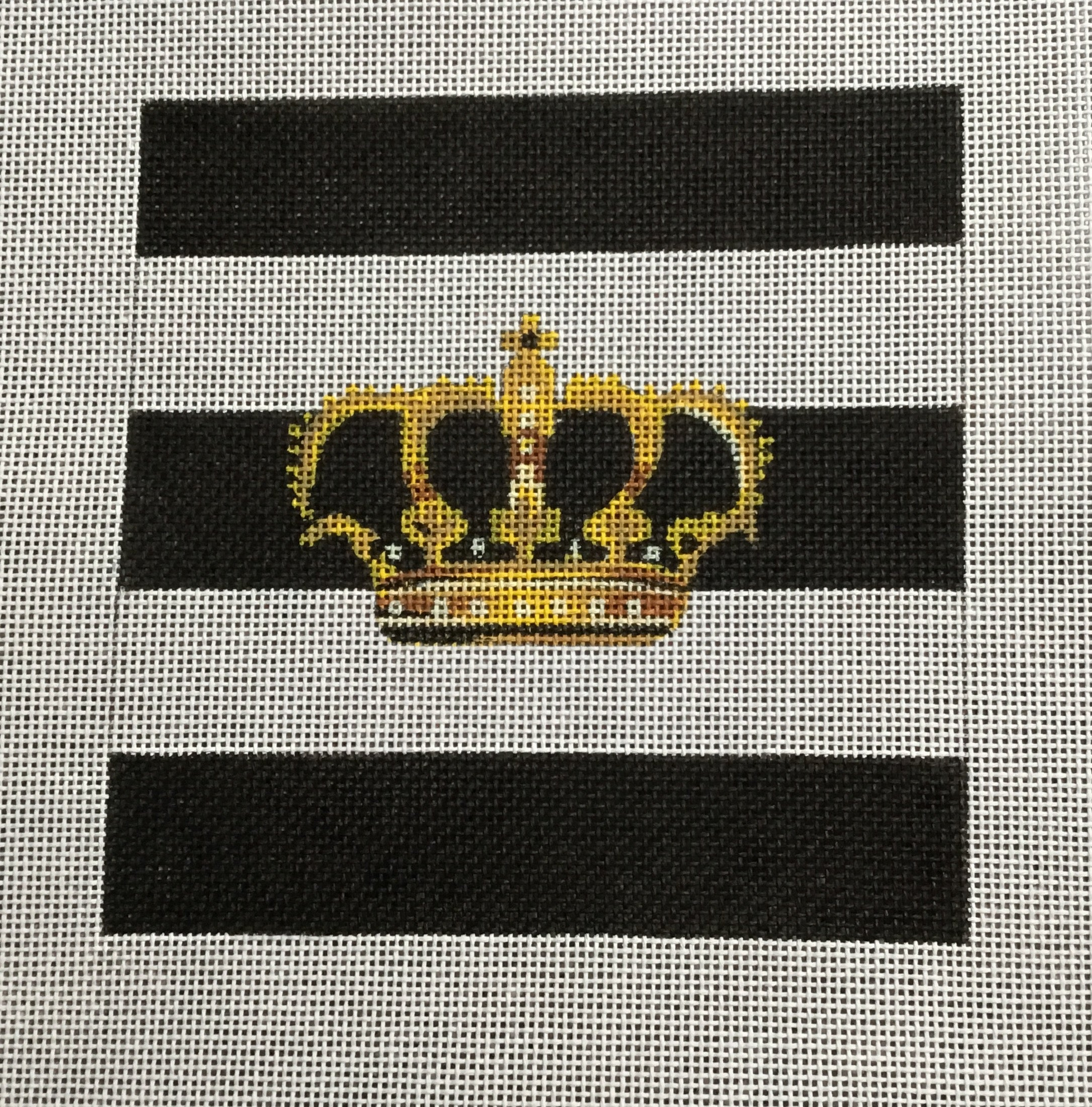 Crown on b/w Stripes