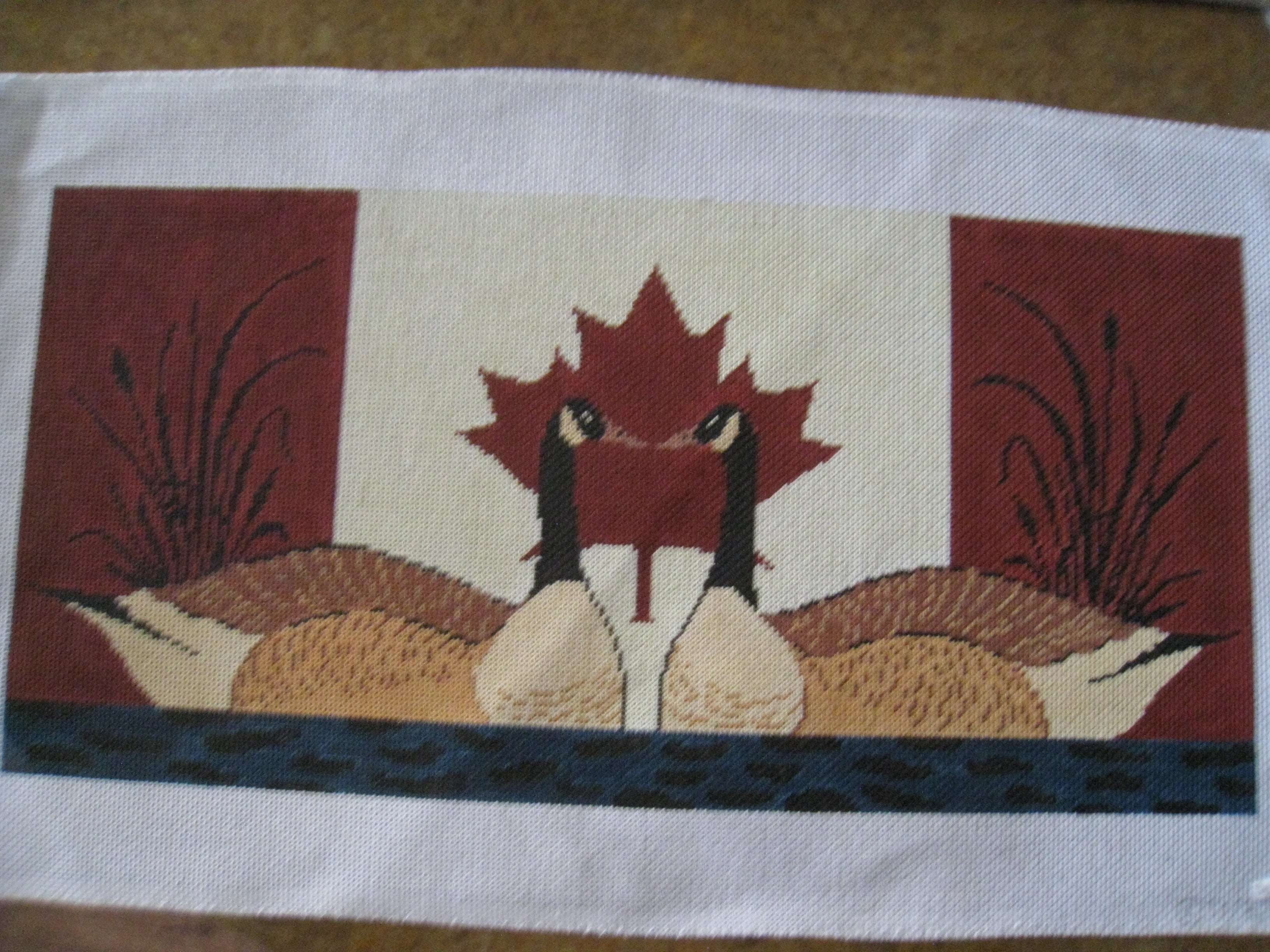 Canadian Flag and Geese