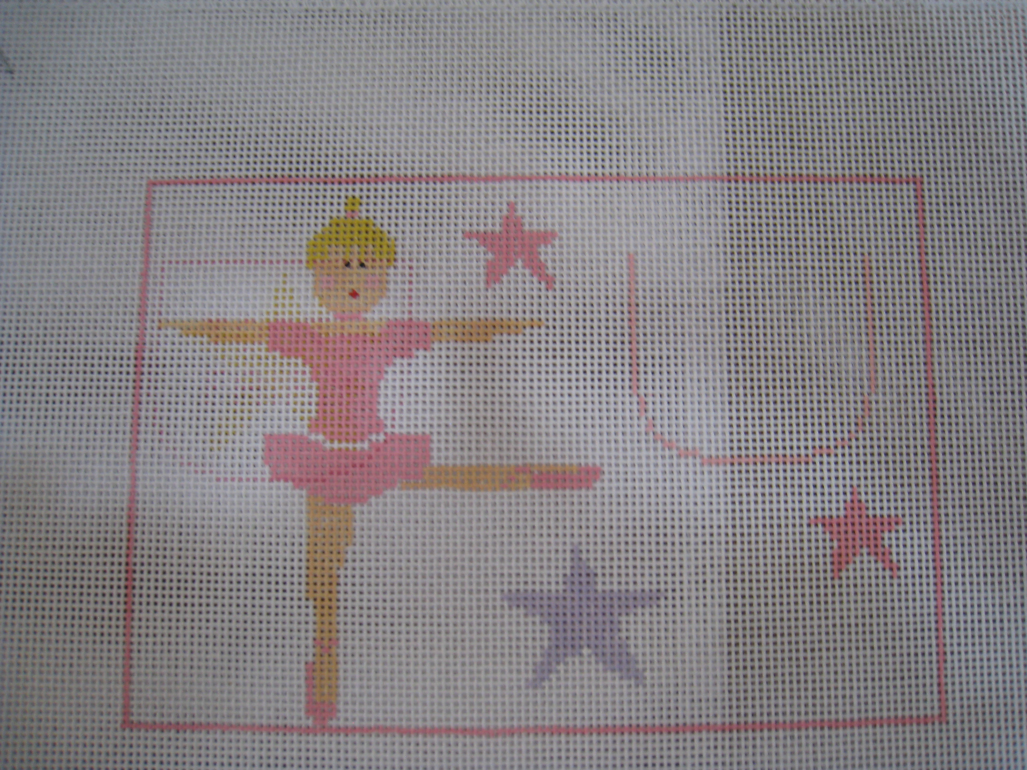 Tooth Fairy Canvas Ballerina with stars