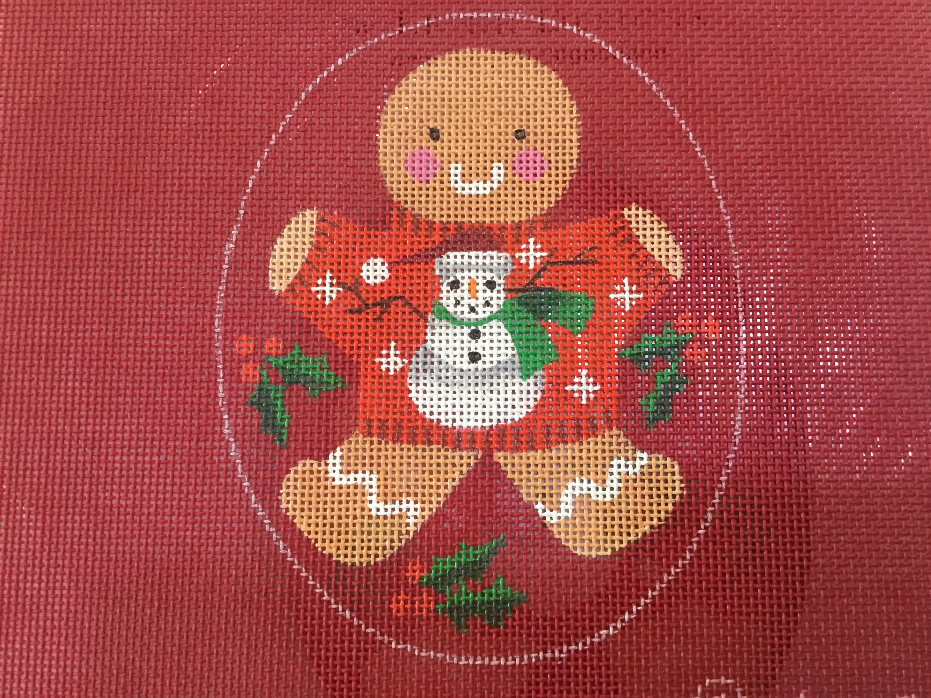 Ginger Snowman ornament