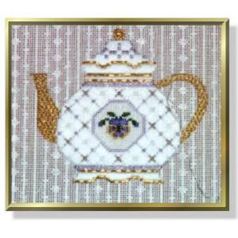 Teapot - Pansy Stitch Guide-CD270sg