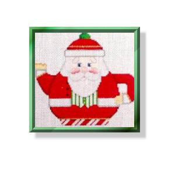 Teapot - Santa with Vest-CD460