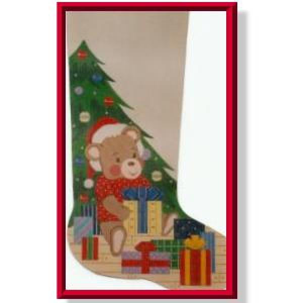 Santa Bear Stocking-CD907