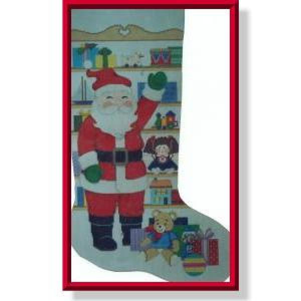Santa's Toy Shelf Stocking-CD911