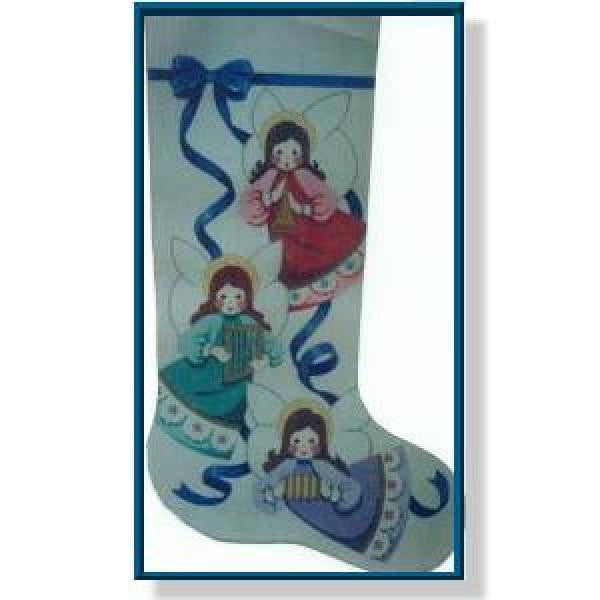 Christmas Angels Stocking-CD914